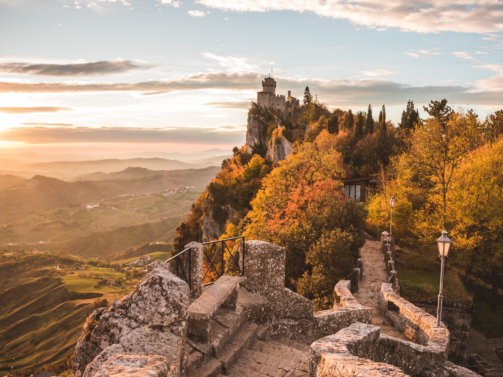 Incredible castles of San Marino - one of the smallest European countries